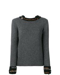 Prada Raw Knit Cuffed Sweater