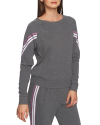 1 STATE Ribbon Sleeve Stripe Top