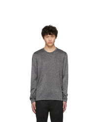 Hugo Silver Wool Sepo Sweater