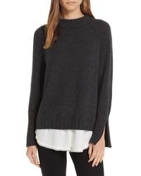 Brochu Walker Strand Layered Wool Cashmere Sweater