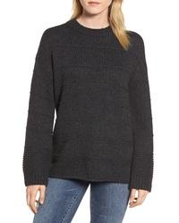 Velvet by Graham & Spencer Stripe Stitch Wool Alpaca Blend Sweater