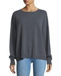Current/Elliott The Destroyed Knit Crewneck Pullover Sweater