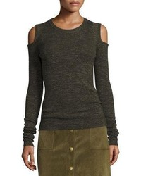 Current/Elliott The Melange Cold Shoulder Sweater