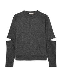 Christopher Kane Zip Detailed Lurex Sweatshirt