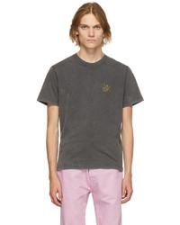 Carne Bollente Black Organic Cotton Space Nuts T Shirt