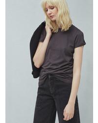 Mango Cotton Modal Blend T Shirt