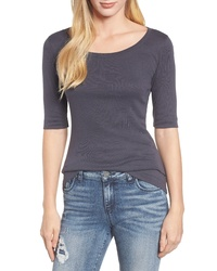 Caslon Cotton Modal Knit Elbow Sleeve Tee