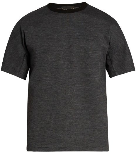 $330, Kolor Crew Neck Wool Blend T Shirt