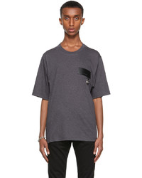 Dolce & Gabbana Grey Dna Patch T Shirt