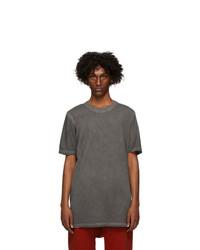 11 By Boris Bidjan Saberi Grey Dye T Shirt