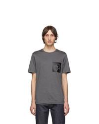 Salvatore Ferragamo Grey Logo T Shirt