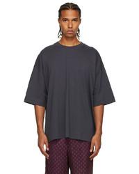 Dries Van Noten Grey Medium Weight Jersey T Shirt