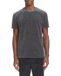 Grey melange velour t shirt medium 1247757