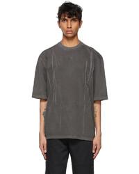 Ader Error Grey Needle Logo T Shirt