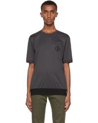 Giorgio Armani Grey Organic Cotton Jersey T Shirt