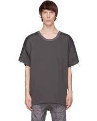 Blackmerle Grey Zip Panel T Shirt