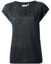 MiH Jeans Scoop Neck T Shirt