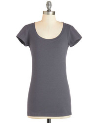 Tresics Whats The Scoop Neck Tee In Charcoal