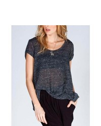 Volcom Lived In Sheer Tee Charcoal In Sizes Large X Large X Small Small Medium For 235421110