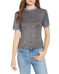 Splendid X Margherita Metallico Stripe Tee