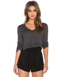 BCBGMAXAZRIA V Neck Crop Sweater