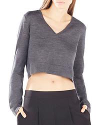 BCBGMAXAZRIA Viktorie Cropped Merino Wool Sweater