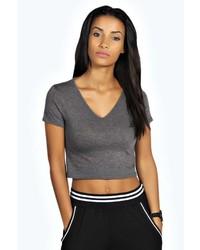 e10a9cca00ecf0 Boohoo Nicole Short Sleeve Crop Top Out of stock · Boohoo Laura V Neck  Short Sleeve Crop Top