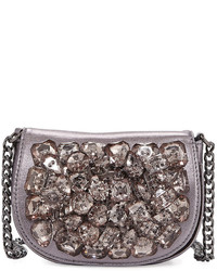Neiman Marcus Crystal Cluster Crossbody Bag