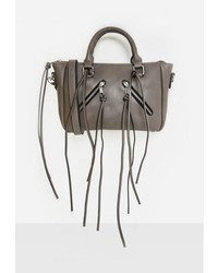 Missguided Grey Tassel Detail Mini Cross Body Bag