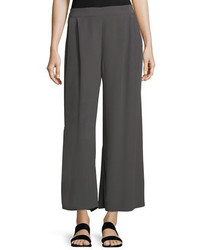 Crinkled crepe wide leg pants medium 5147026