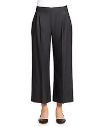 Wool silk wide leg ankle pants medium 230035