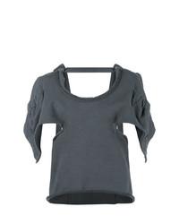 JW Anderson Oversized Open Back Asymmetric Sleeve Top