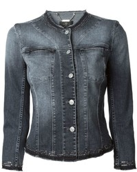7 For All Mankind Embellished Denim Jacket