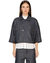 Diesel Black Gold Cropped Indigo Japanese Denim Jacket