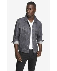 Express Gray Denim Trucker Jacket