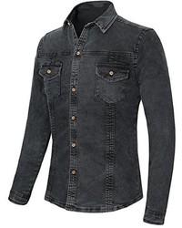 Honey GD Fashion Slim Fitted Long Sleeve Denim Jacket Outwear