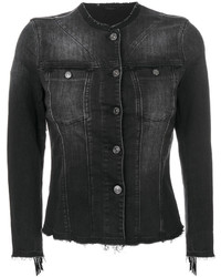 Fringed denim jacket medium 5053341