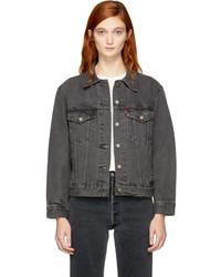 Grey denim ex boyfriend trucker jacket medium 5311242