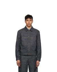 Lemaire Grey Denim Trucker Jacket