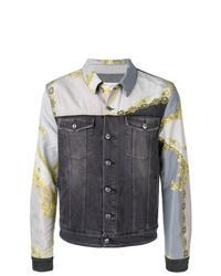 Versace Collection Printed Denim Jacket
