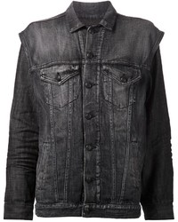 R 13 R13 Layered Look Denim Jacket