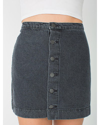 American Apparel Button Front Denim A Line Skirt | Where to buy ...