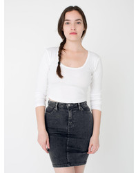 High waist denim mini skirt medium 194568