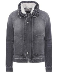 Shearling lined denim jacket medium 5388582