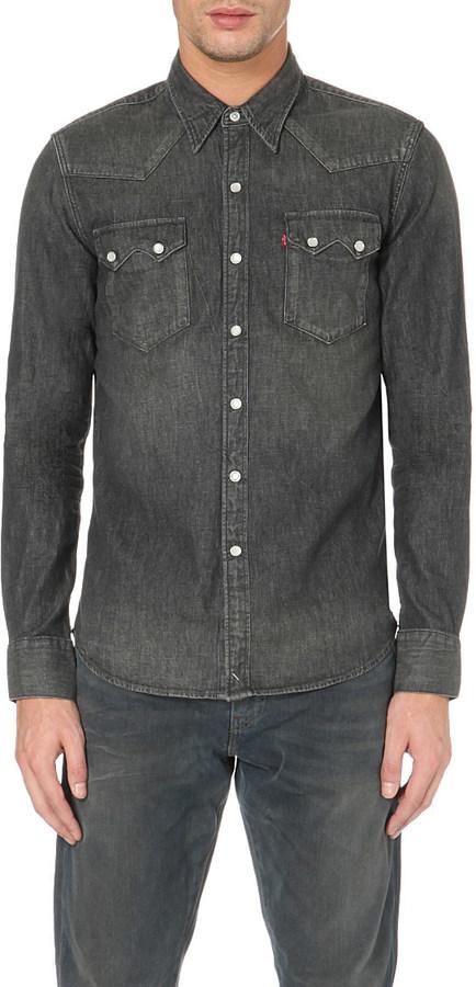 7695892630bd Levi's 1955 Sawtooth Denim Shirt, $96   Selfridges   Lookastic.com