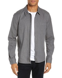 BOSS Lancelot Regular Fit Denim Zip Shirt