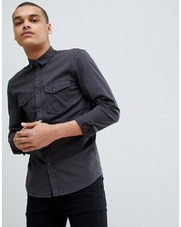 Tom Tailor Long Sleeve Denim Shirt With Utility Pockets