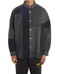 Ambush Patchwork Denim Button Up Shirt