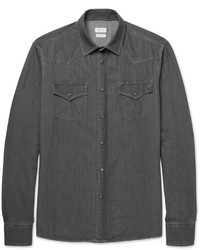 Brunello Cucinelli Washed Denim Western Shirt