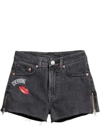 Denim shorts with zips medium 5030209